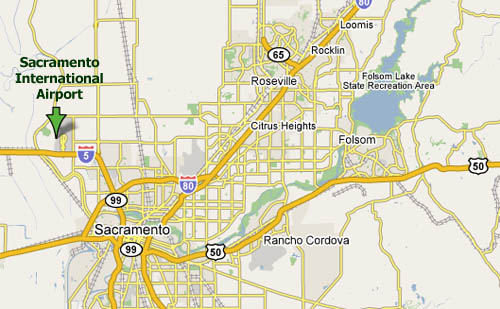 Sacramento International Airport (SMF) map