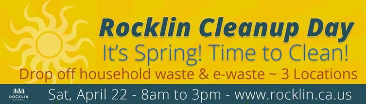 Rocklin Cleanup Day banner graphic