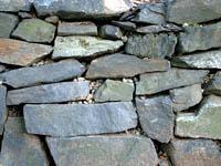 photo of rock retaining wall