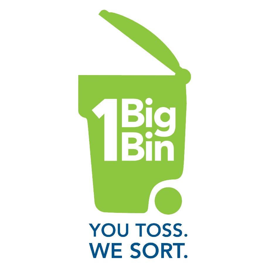 One Big Bin. You Toss. We Sort.