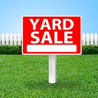 """Yard Sale"" sign graphic"