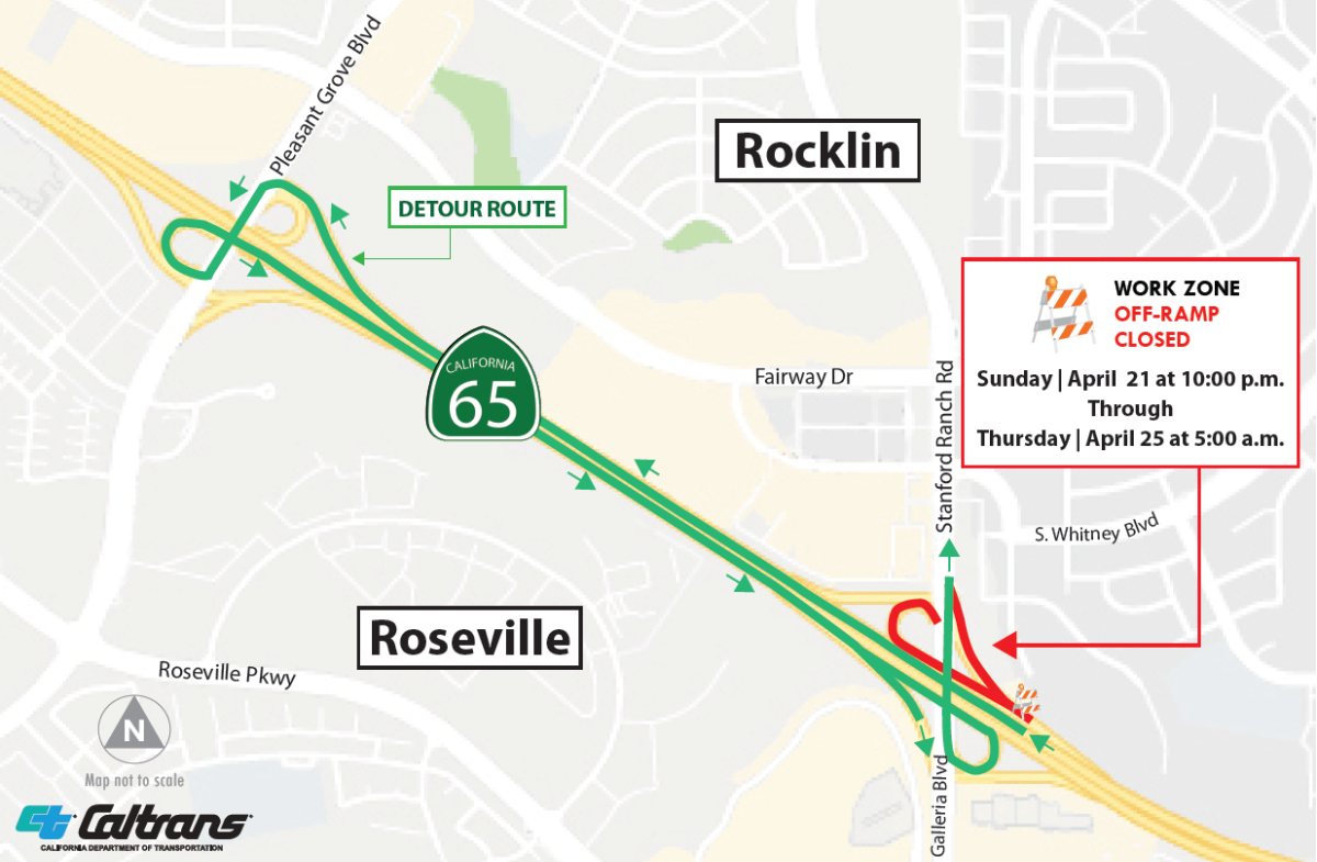 Extended Closure Planned in April for NB Highway 65 Off-Ramp - City on