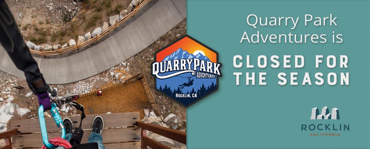 Quarry Park Adventures Closed For Winter Season City Of Rocklin
