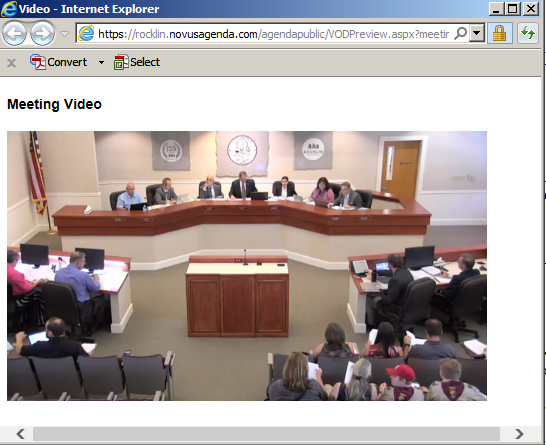 Screenshot of Streaming Video playing
