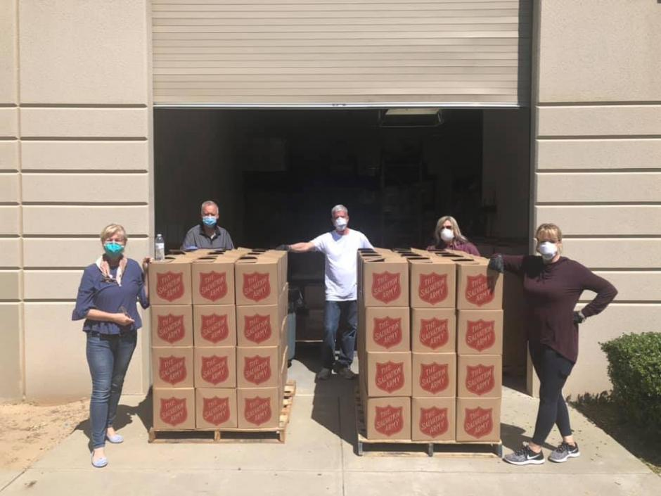 Roseville Salvation Army Corps volunteers packed 240 free food boxes this week to help keep the community nourished during the pandemic.