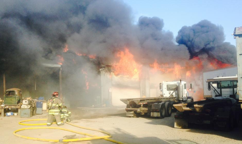 Commercial Fire off Athens Rd 2015