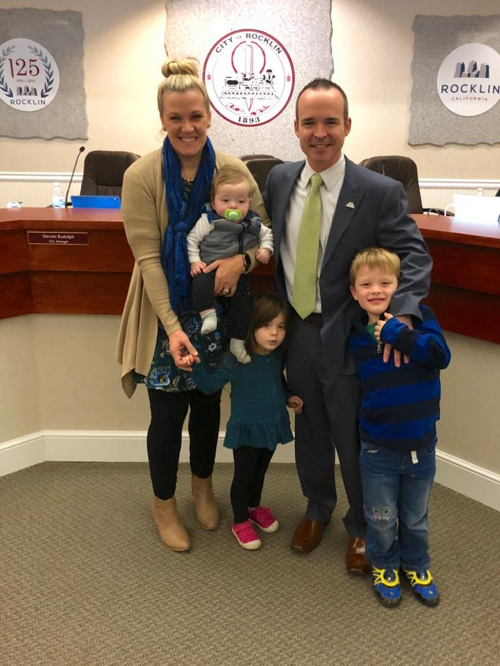 Mayor Joe Patterson and his family.