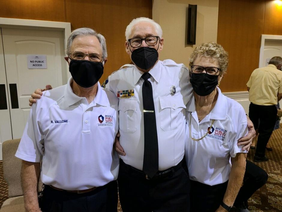 Image of Stuart Lehman and two other Rocklin Police Volunteers