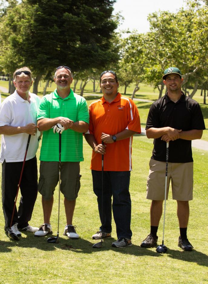 Rocklin Traffic Division Employees pose during a 2019 golf tournament.
