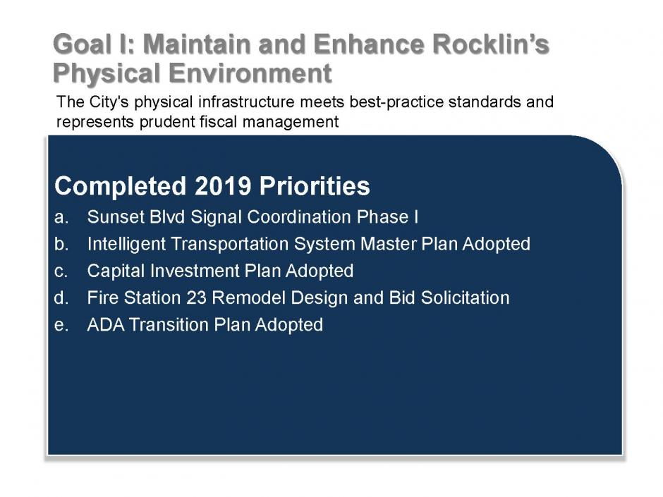 Strategic Plan Goal 1 Accomplishments