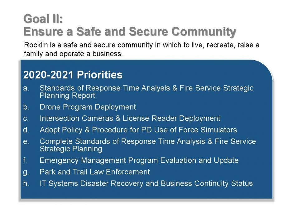 Strategic Plan Goal 2 Items