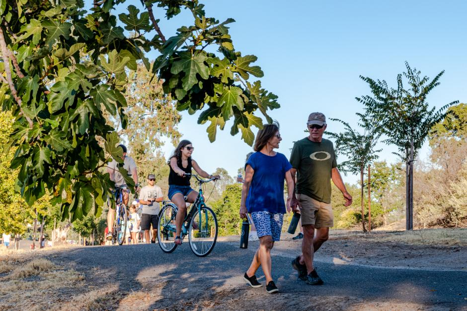 Walkers and cyclists on SWRA West Trails