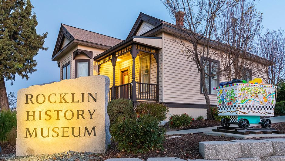 Rocklin History Museum, located at 3895 Rocklin Rd. Rocklin History Museum, located at 3895 Rocklin Rd.