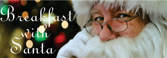 photo with Breakfast with Santa text