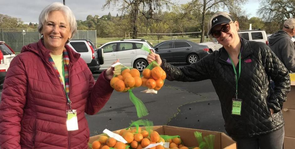 Placer Food Bank volunteers at the Free Farmer's Market at Johnson-Springview Park in Rocklin
