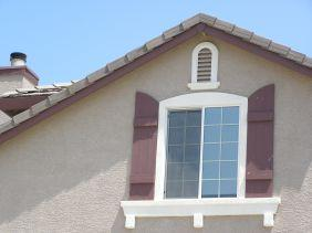 photo of home roof gable detail