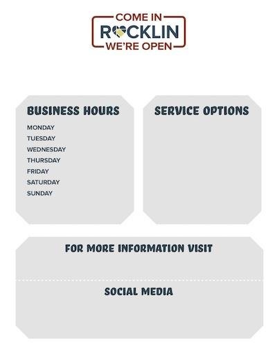 Business Hours and Operation Poster