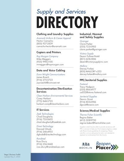 Supply and Services Directory