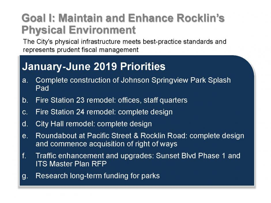 Rocklin Strategic Plan, Page 3