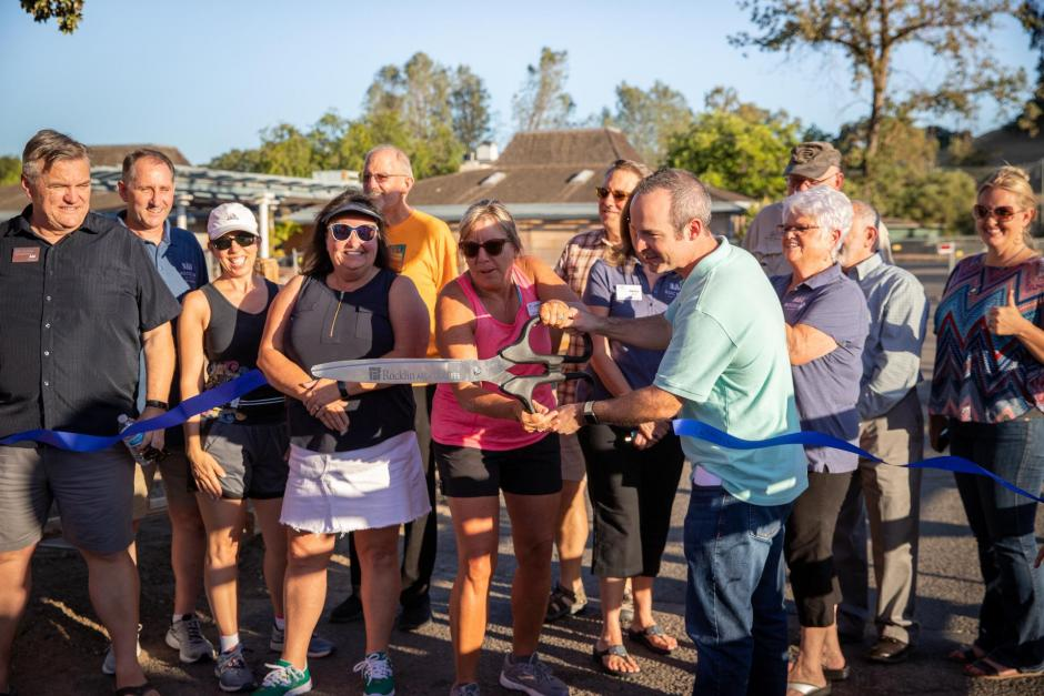 City Leaders Cut a Ribbon at the SWRA West Trails Opening