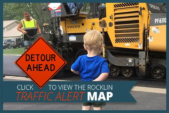 Click to Access a Map of Road Closures in Rocklin