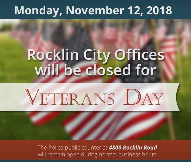 City offices closed Veterans Day, Monday Nov. 12, 2018