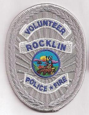 Rocklin Police Volunteer Cloth Badge