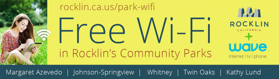 Free Wi-Fi in Rocklin Community Parks